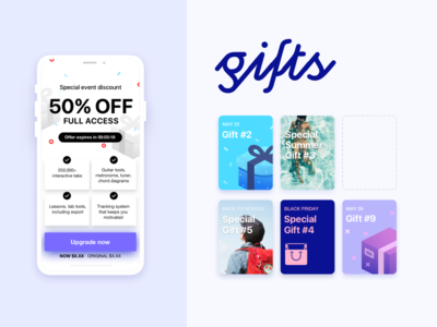 Marketing template summer ios price timer iphone ui button gift card discount sale marketing