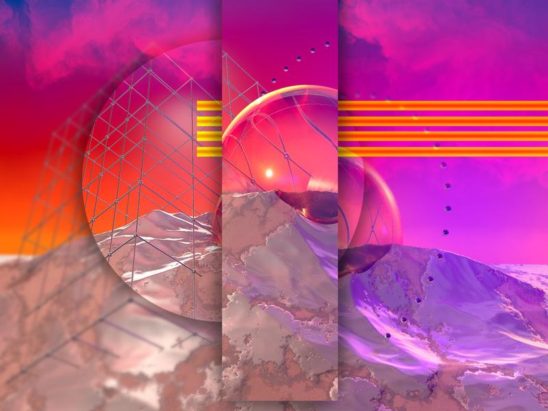 When it rains картина cinema4d дизайн графический дизайн изобразительное искусство иллюстрация