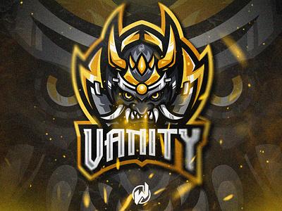 VANITY illustrator logo gamer animation logo esport gaming gamer esport logo illustration vector logo design
