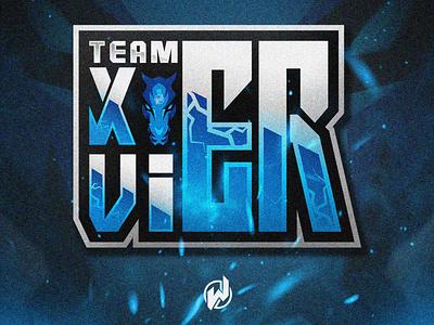 TEAM XAVIER logo gamer animation logo esport gaming gamer esport logo illustration icon vector logo design