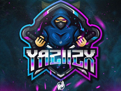 YAZIIZX logo gamer animation logo esport gaming gamer esport logo illustration icon vector logo design