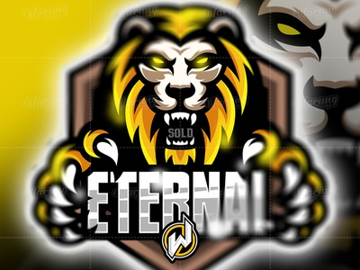 ETERNAL fortnite logo branding flat ux ui graphic design illustrator pubg logo gamer logo esport gaming gamer esport logo icon logo vector illustration identity design animation