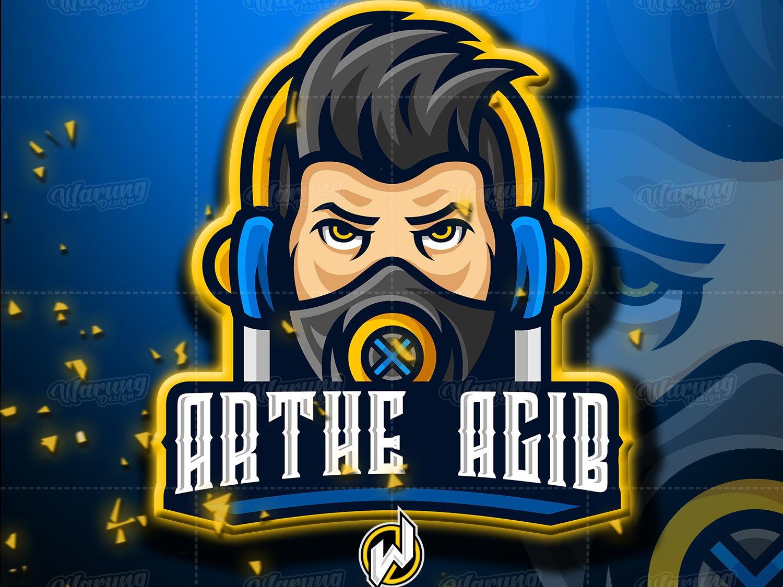 ARTHE AGIB identity illustrator flat dota 2 graphic design pubg fortnite fortnite logo logo gamer logo esport gaming gamer esport logo branding animation vector logo illustration icon design