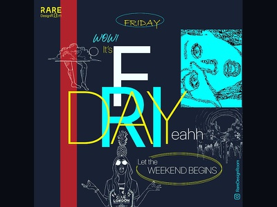 Friday Poster instagram socialmedia poster graphic design typography weekend weekday friday
