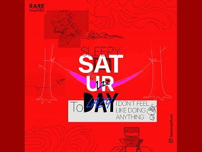 Saturday Poster instagram typography poster socialmedia week weekday weekend saturday