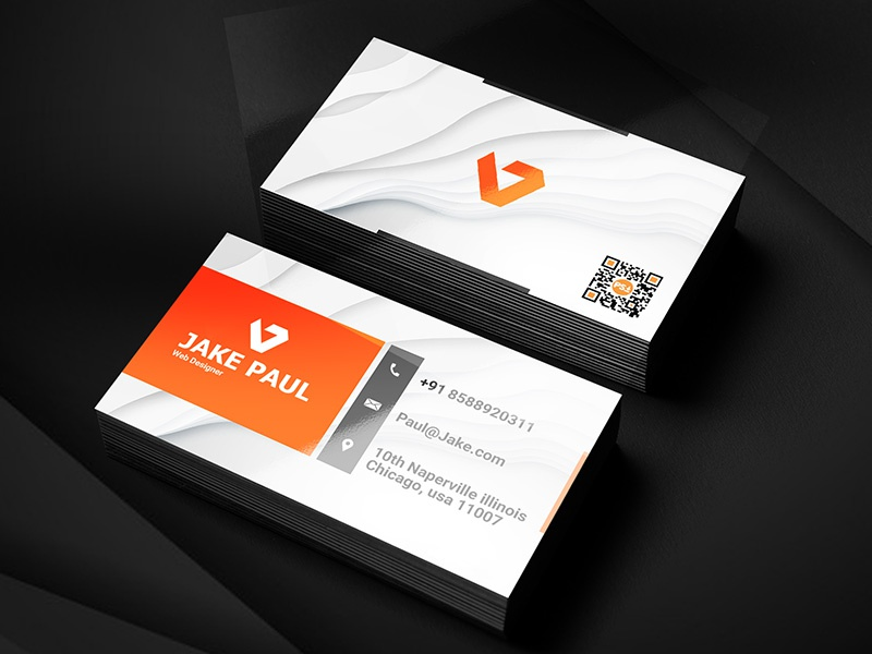 Business Card Template By Salmaan Ansari On Dribbble