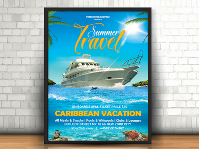 Summer Travel Flyer travel flyer pool party flyer yacht party flyer summer party flyer summer flyer summer travel flyer