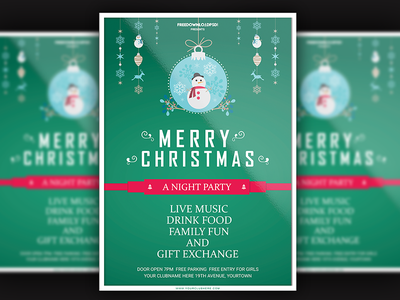 Christmas Party Flyer winter party flyer new year party flyer santa christmas party flyer christmas flyer christmas card christmas merry christmas