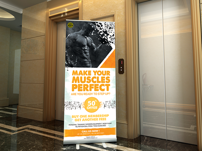 Gym Standee fitness gym rollup poster rollup banner banner poster standee standy fitness standy gym standy fitness standee gym standee