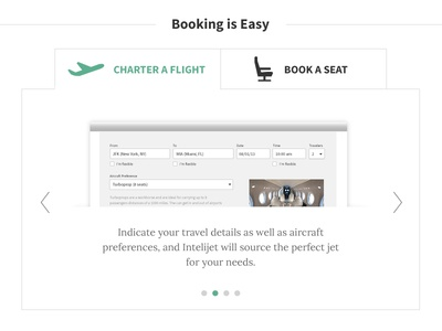 Booking is Easy - tabbed steps