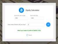 Equity Calc Js App