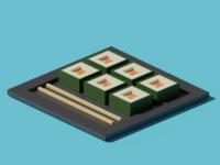 Sushi 3d Illustration