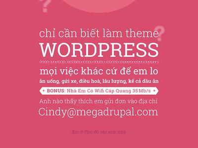 Wordpress themer recruit in Vietnames