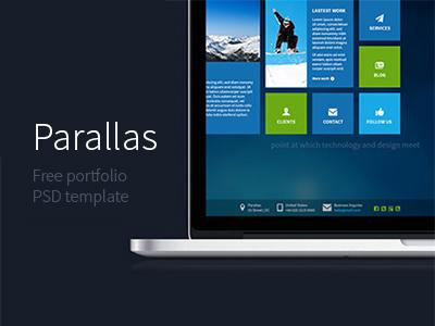 Parallas - Free PSD Template