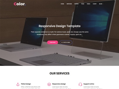 Color - Free One Page HTML5 Template