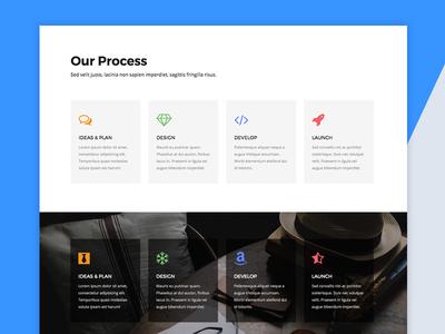 Free Process Block HTML5 Template