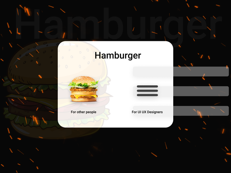 Hamburger app icon ux branding vector ui illustration design art