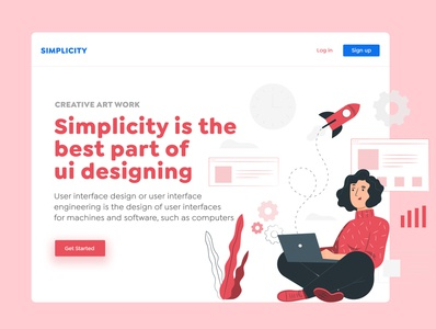 Simplicity Banner website design simple bannerdesign banner website uiuxdesign uiux typography ux branding vector ui illustration design art