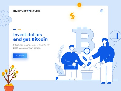 Investment Ventures | Cryptocurrency investment cryptocurrency investments cryptocurrency websitedesign brand identity bannerdesign banner website uiuxdesign uiux typography branding ux ui illustration design art