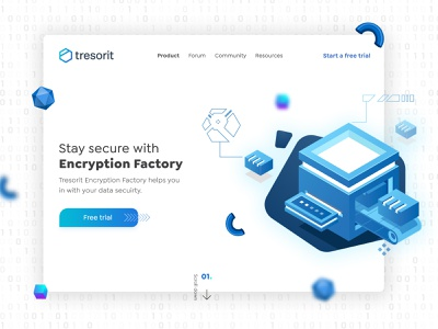 Tresorit Playoff:  Encryption Factory Banner landing page websites web design creative trending product design product color banner concept branding vector uiux uiuxdesign typography ux illustration art ui design