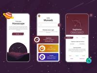 Horoscope UI Concept product design mobile ui horoscope mobileapp app concept branding vector uiux uiuxdesign typography illustration ui design