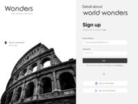 Wonders of the world banner design website concept branding uiux uiuxdesign art illustration ui design