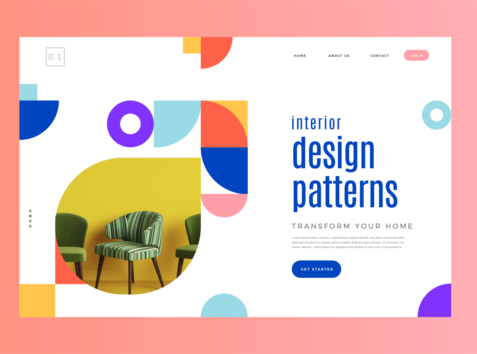 Interior Design Pattern - Concept Banner concept art banner design interior interaction design vector ux concept branding uiux art uiuxdesign typography illustration ui design