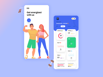 Fitness App UI UX statics fitness club gym app mobileappdesign uiuxdesigner running training gym fitness app fitness mobileapp product design concept branding uiux uiuxdesign typography ui illustration design
