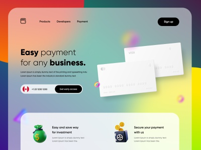 Finance/Wallet landing page uiuxdesigner 3d creditcard payment transfer business payment walletwebsite wallet finance branding uiux uiuxdesign ui typography illustration design