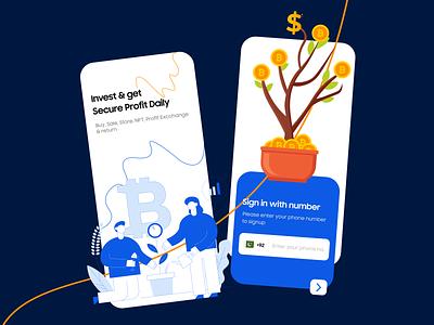 Cryptocurrency Mobile UI bitcoin uiuxdesigner graphic design ui mobileappdesign cryptomobileapp mobileui cryptocurrency crypto productdesign branding uiux uiuxdesign typography illustration design