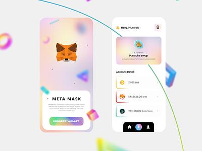 Metamask/Cryptocurrency Mobile UI concept mobileapp uiuxdesigner mobileui altcoins bitcoin graphic design cryptocurrency crypto metamask branding uiux ui uiuxdesign typography illustration design