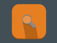 Simple search icon - Flat