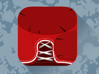 Boxing Glove App icon flat raw