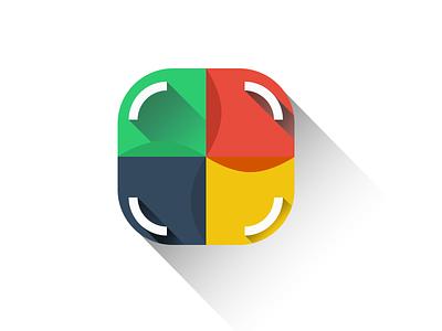 Lana Logo new flat shadow colors gradient logo icon simple