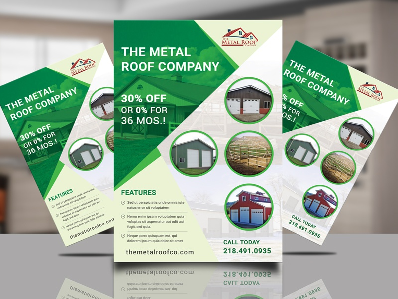 the metal roof company flyer by tapu sen dribbble dribbble
