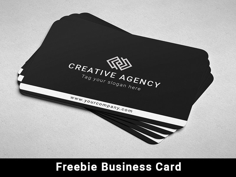 Freebie Business Card real estate card business template elegant clean business card blackish psd mock-up templates freebie free business card