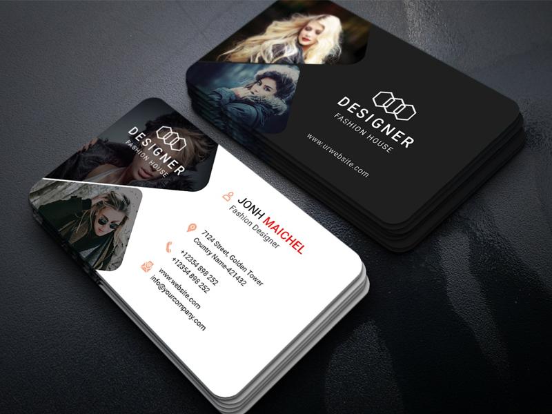 fashion business card by tapu sen dribbble