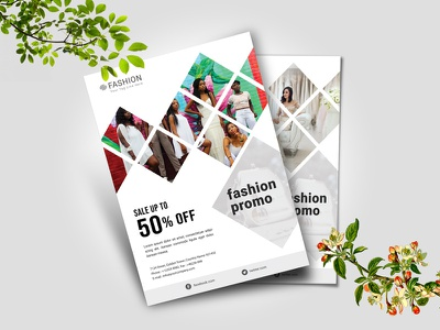 Fashion Flyer 02 trading typography ui elegant design illustration modern discount promo fashion promo clean  creative clean minimal exivition photo photography flyer flyer template fashion flyer template fashion