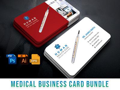 Medical Business Card Bundle nurse pharmaceutical doctor pharmacist pharmacy hospital clinic medical vector minimal card clean elegant modern