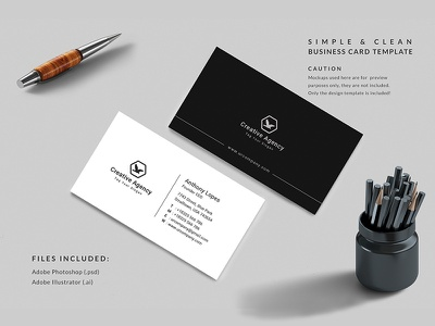 Business Card psd eps ai vertical horizontal business card creative simple black white ui typography blackish illustration vector design minimal clean card modern