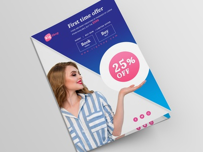 Fashion Flyer Vol. 05 clean corporate occasion blue flyer blue offer offer flyer women fashion lady fashion simple flyer flyer template fashion flyer ux trendy branding ui psd minimal elegant modern