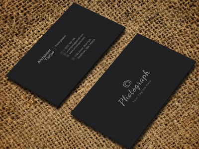Photography Business Card photo shoot photo shoot simple invitation photo frame car wash clickable photographers photo studio photography portfolio photography photographer typography creative branding psd blackish minimal clean modern