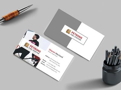 Fuel Station Business Card postcard oil change oil motor market maintenance leaflet kerosene highway gift gasoline gas station fuel station foil flyer energy eco diesel car wash car fuel
