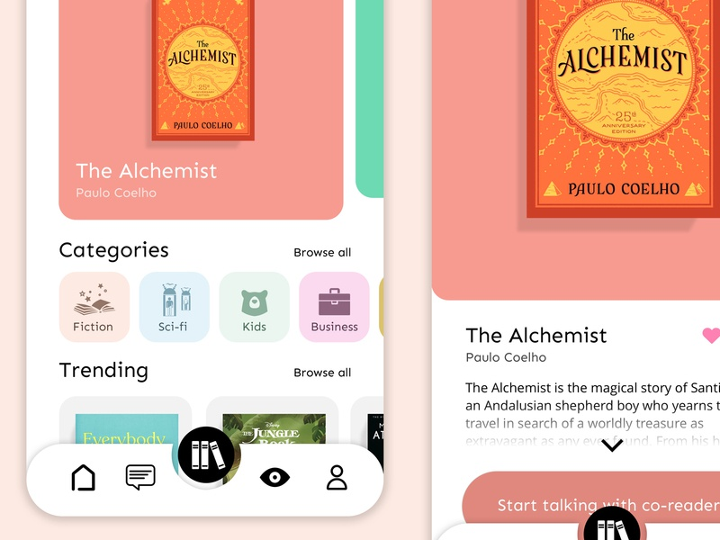 Book Club App layout website chat uxui uidesign books sketch simple minimal dribbble clear clean app design