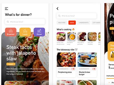 Exploration - A food recipe app concept (sneak peek 🤫) web design product website uxui uidesign sketch simple minimal layout dribbble design clear clean recipe food app