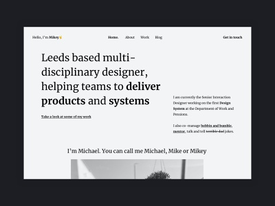 Portfolio - Home page (v502!) creative folio branding webdesigner personal portfolio interface ux grid minimal layout clean ui web design website
