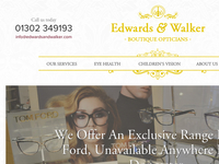 Header and Navigation for Edwards and Walker Opticians