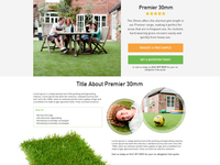 Artificial Grass Product Page (top half)