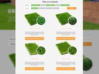 Artificial Grass Product Listings Page