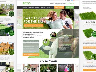 Grono Artificial Grass Website Design